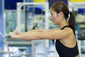 dumbbell raise in gym